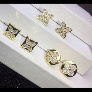 Authentic Louis Vuitton Diamond Blossom Earrings